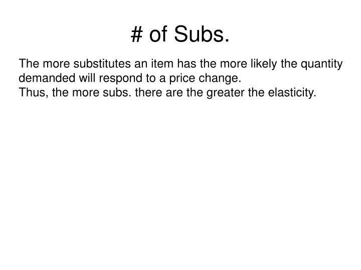# of Subs.
