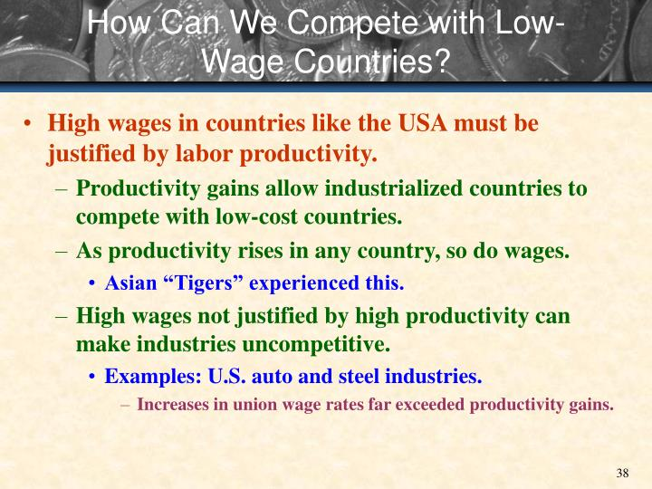 How Can We Compete with Low-Wage Countries?