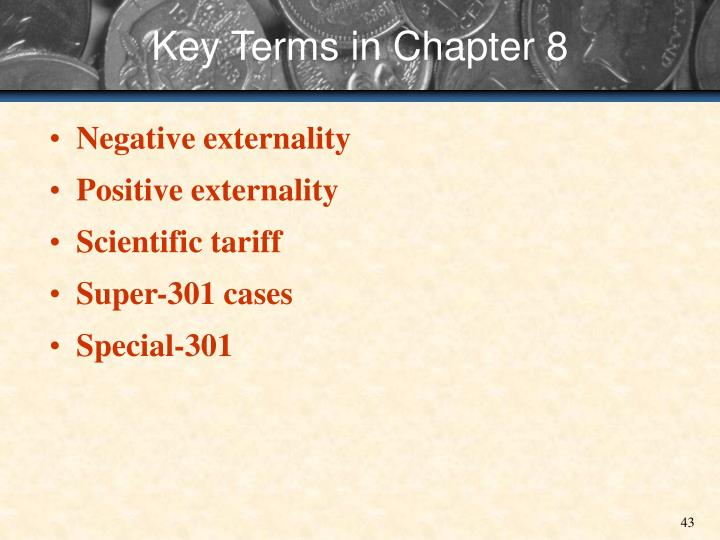 Key Terms in Chapter 8