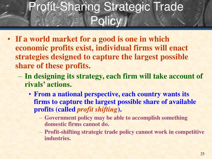 Profit-Sharing Strategic Trade Policy
