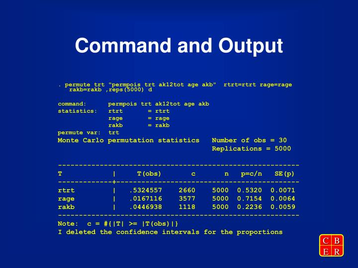 Command and Output