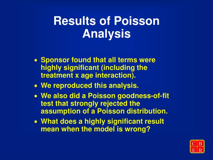 Results of Poisson Analysis