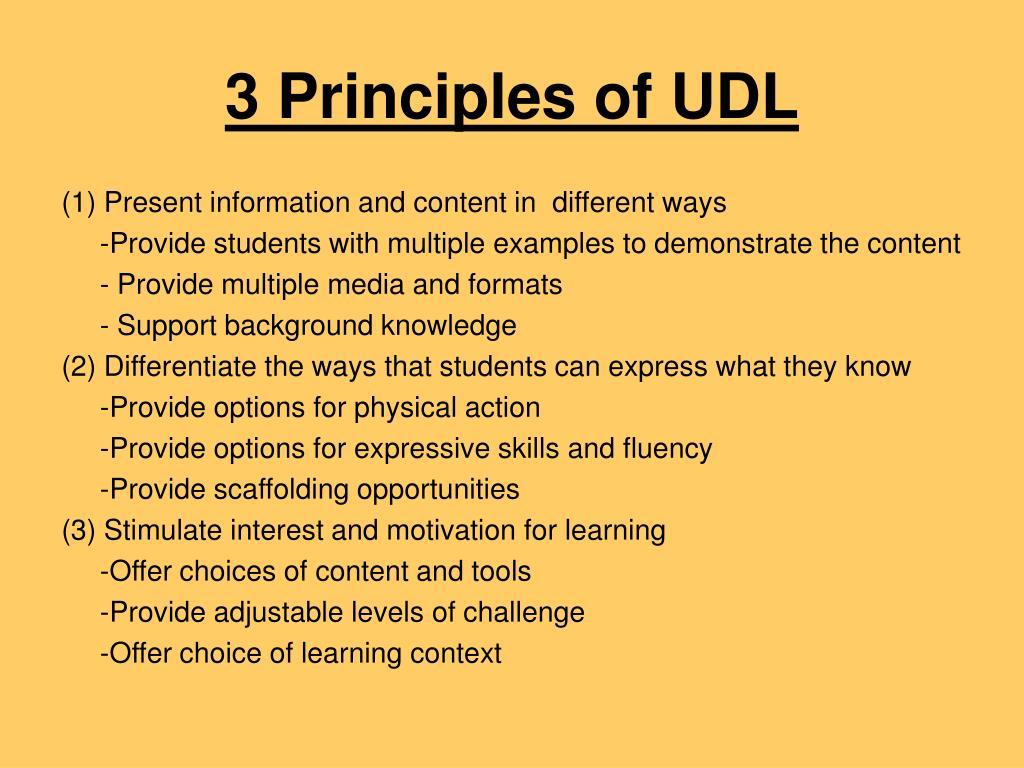 3 Principles of UDL