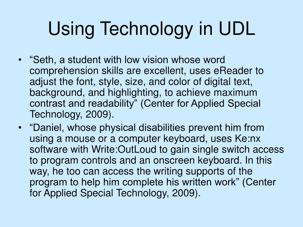Using Technology in UDL