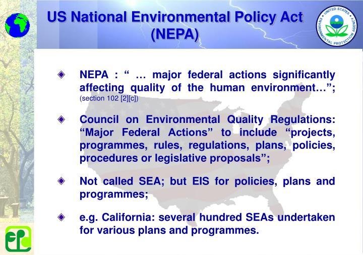 US National Environmental Policy Act (NEPA)