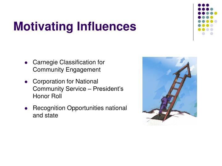 Motivating Influences