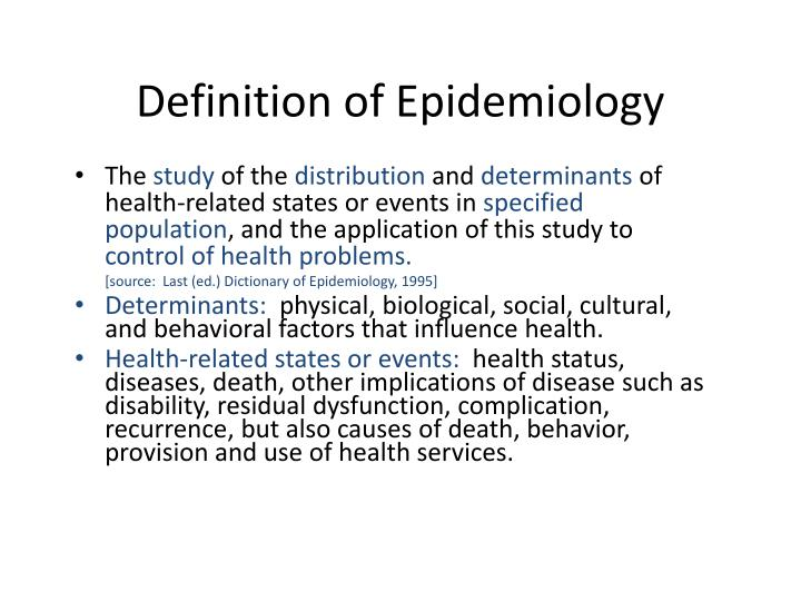 Definition of Epidemiology