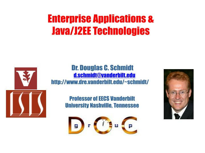Enterprise applications java j2ee technologies