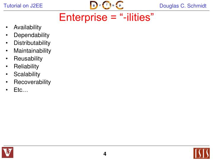 "Enterprise = ""-ilities"""