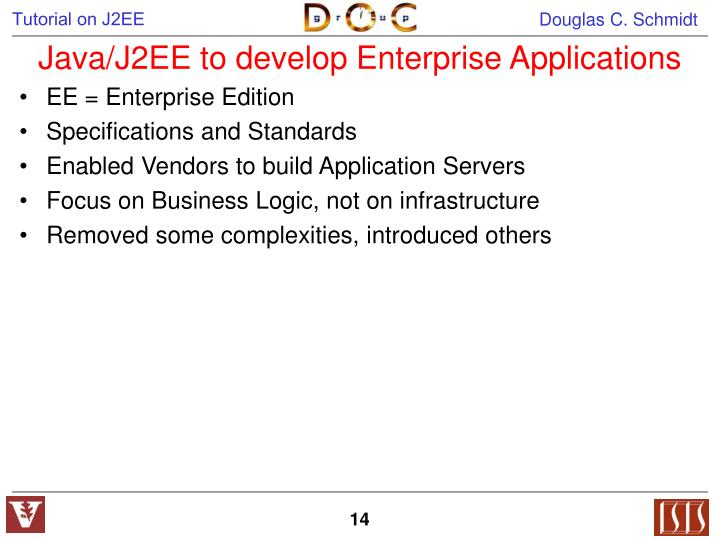Java/J2EE to develop Enterprise Applications