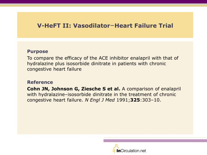 V heft ii vasodilator heart failure trial