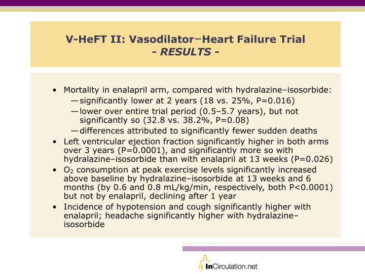 V heft ii vasodilator heart failure trial results