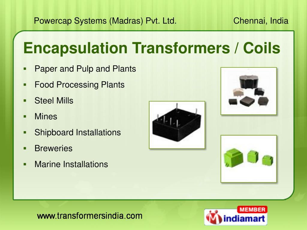 Encapsulation Transformers / Coils