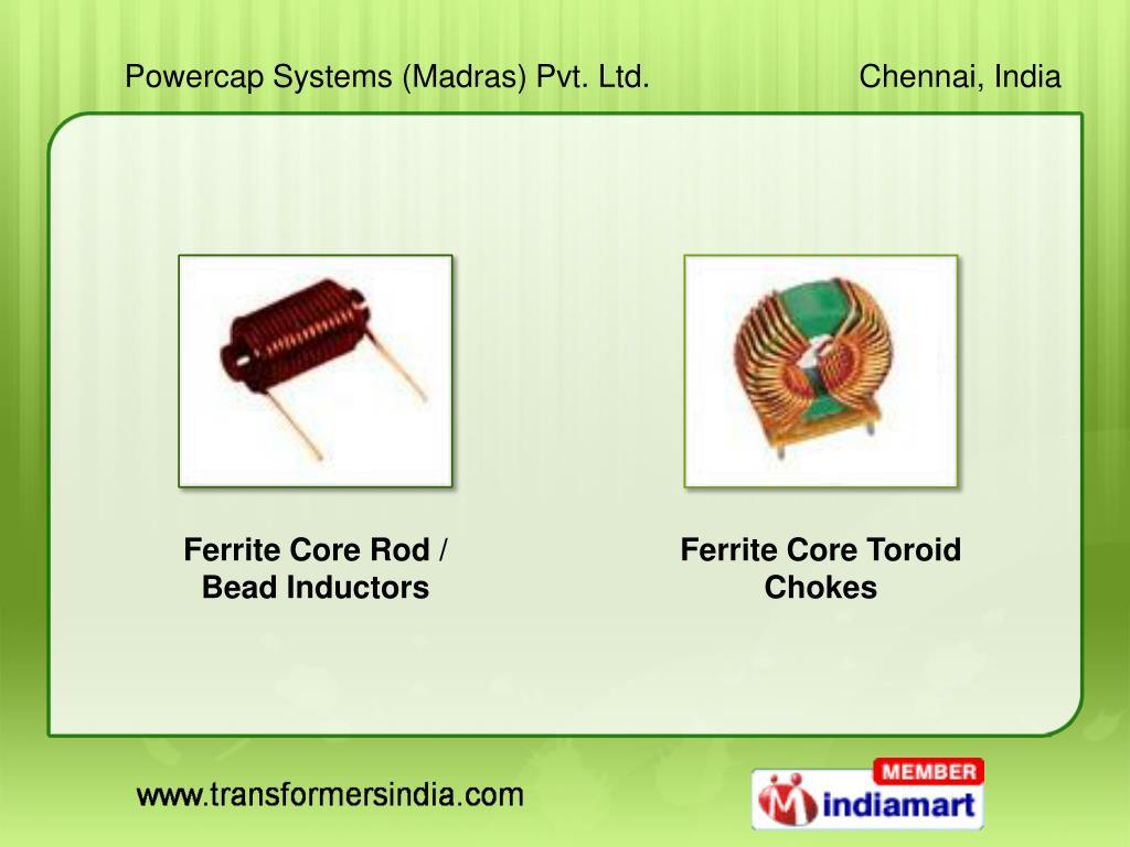 Ferrite Core Rod / Bead Inductors