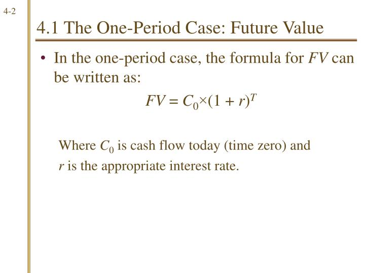 4.1 The One-Period Case: Future Value