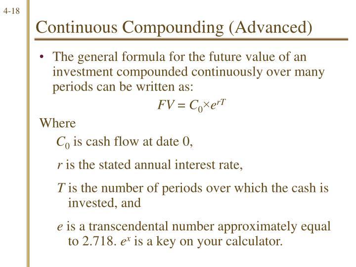 Continuous Compounding (Advanced)