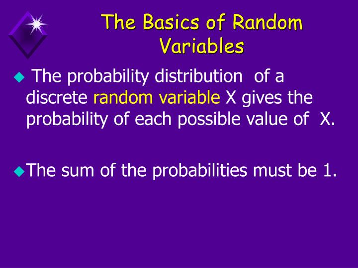 The Basics of Random Variables