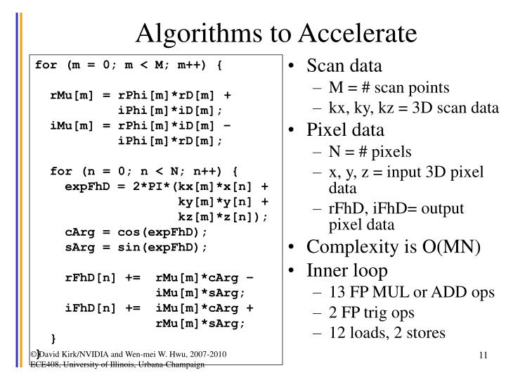 Algorithms to Accelerate