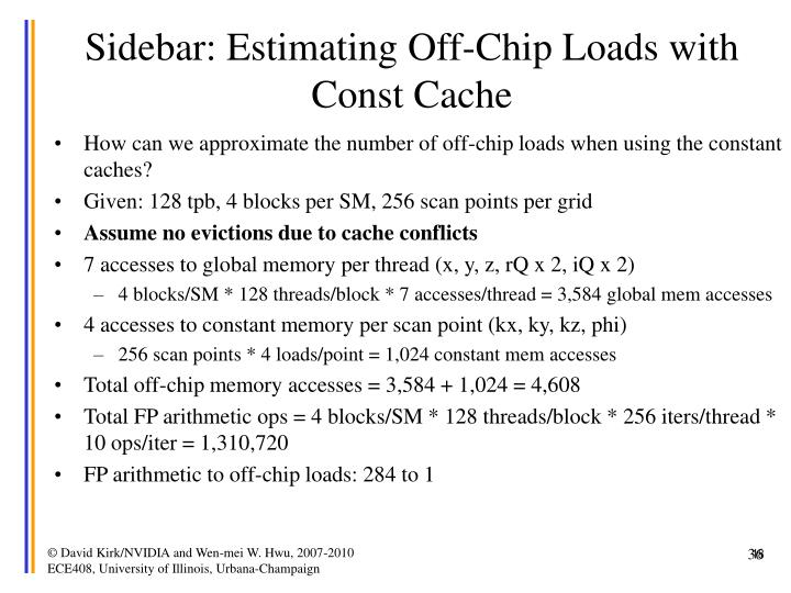 Sidebar: Estimating Off-Chip Loads with Const Cache