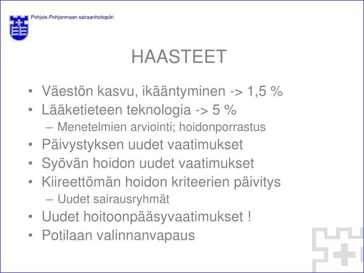 HAASTEET