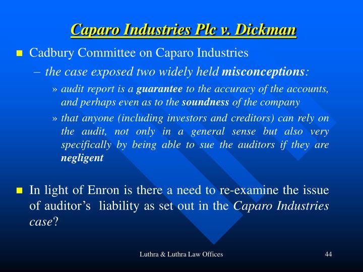 Caparo Industries Plc v. Dickman