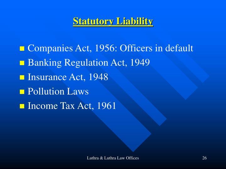 Statutory Liability