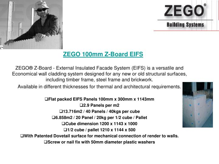 Zego 100mm z board eifs