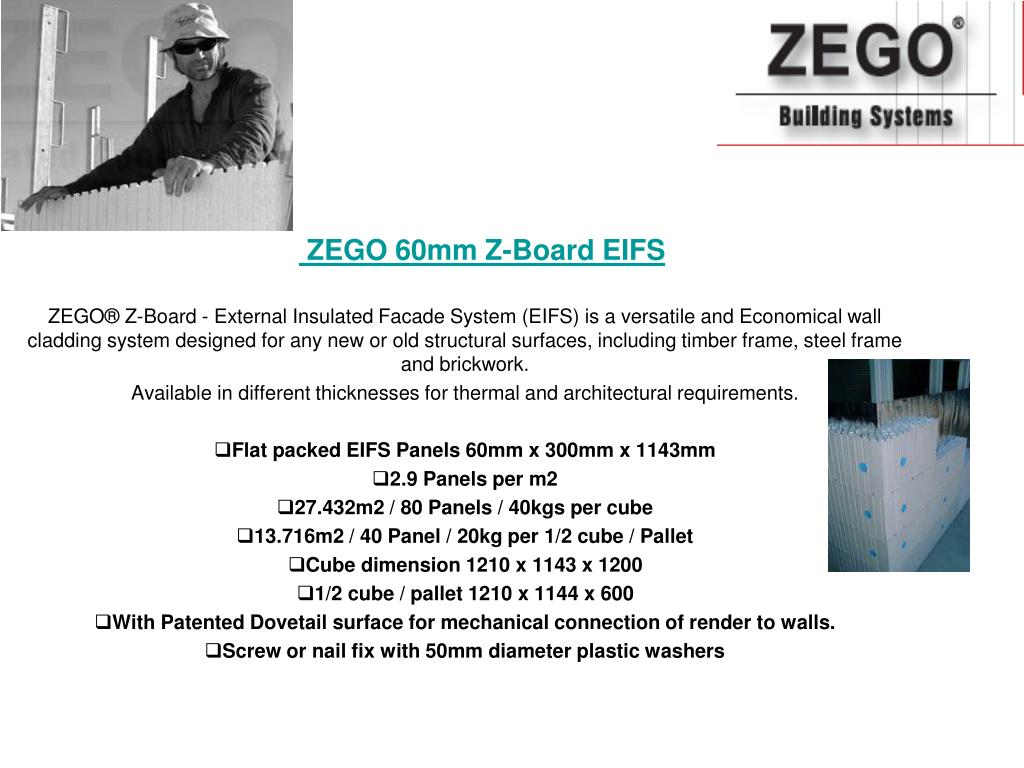 ZEGO 60mm Z-Board EIFS