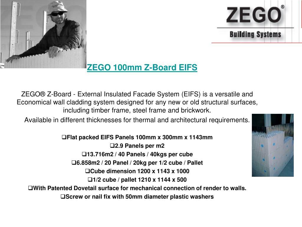 ZEGO 100mm Z-Board EIFS