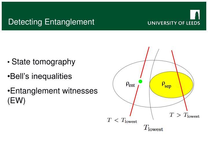 Detecting Entanglement