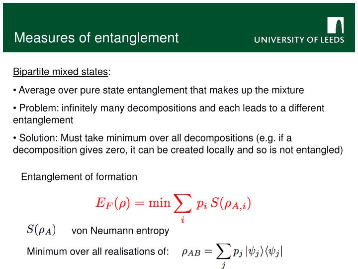 Measures of entanglement