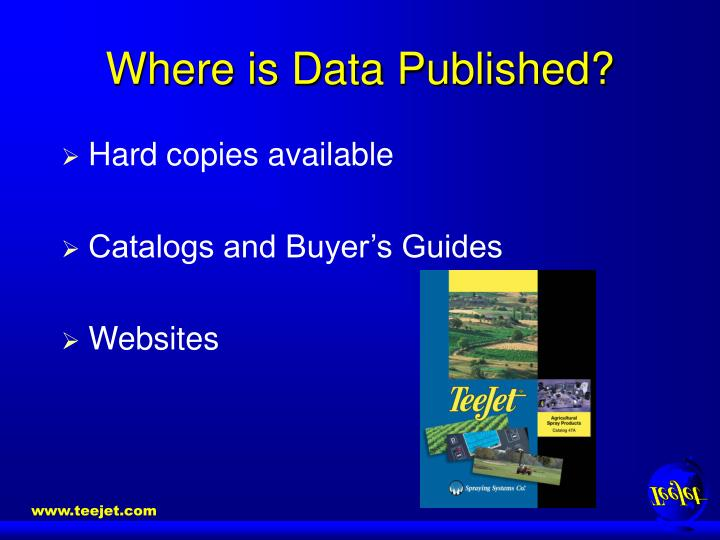 Where is Data Published?