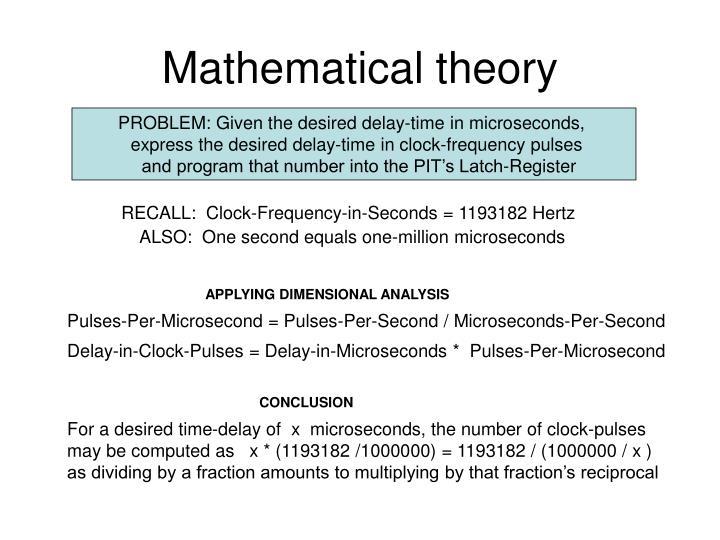 Mathematical theory