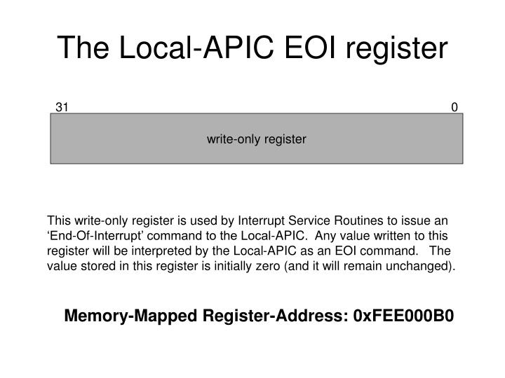The Local-APIC EOI register