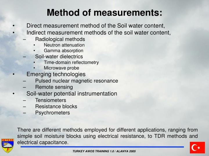 Method of measurements
