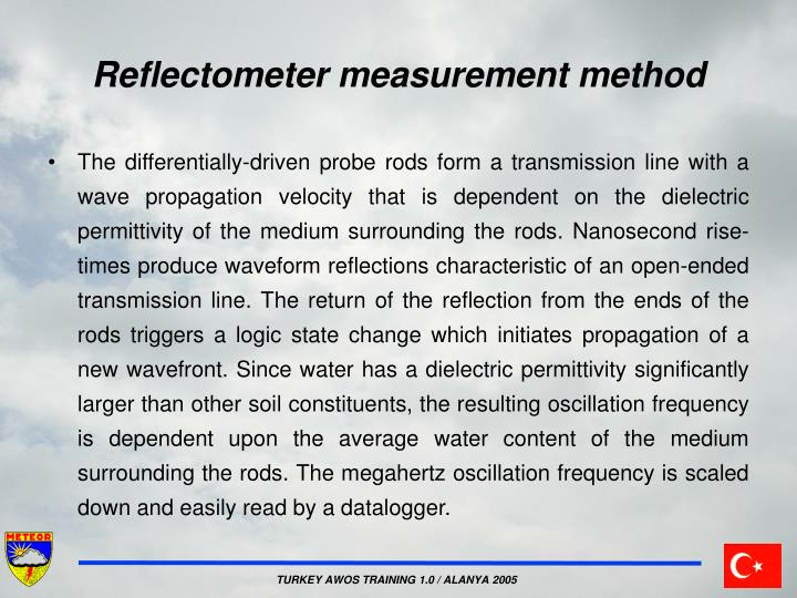 Reflectometer measurement method