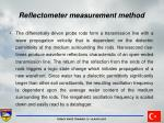 reflectometer measurement method