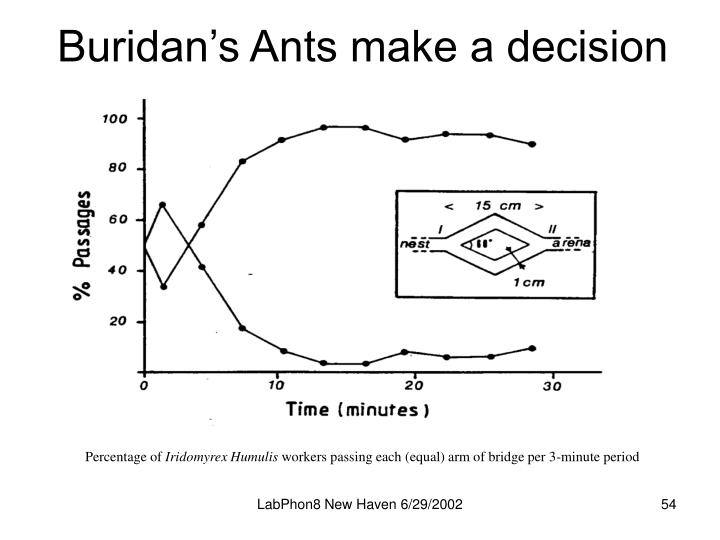 Buridan's Ants make a decision