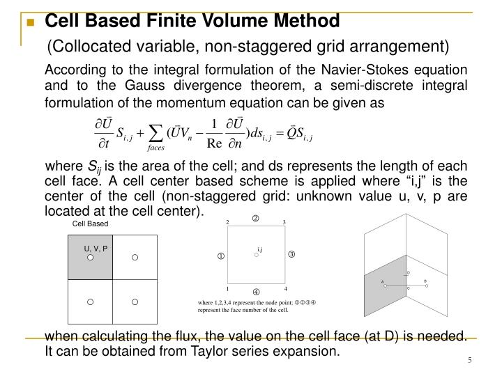 Cell Based Finite Volume Method