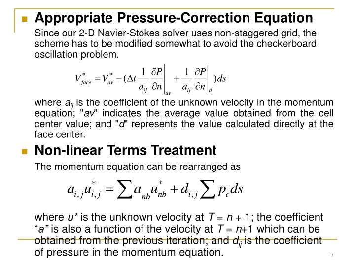 Appropriate Pressure-Correction Equation
