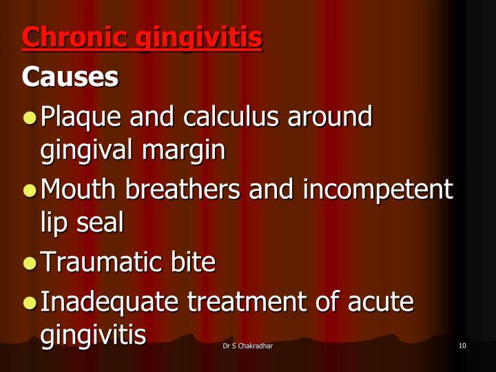 Chronic gingivitis