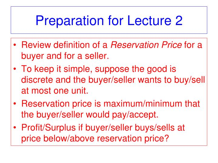 Preparation for Lecture 2
