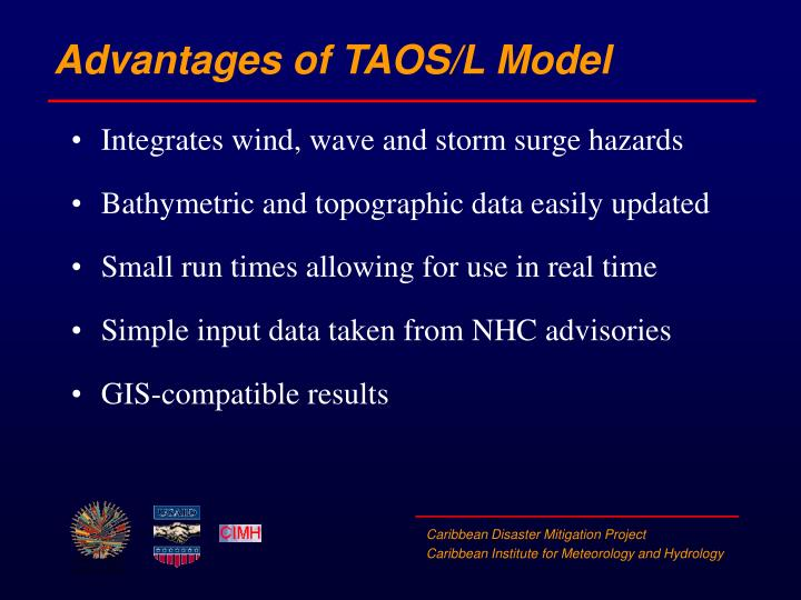 Advantages of TAOS/L Model