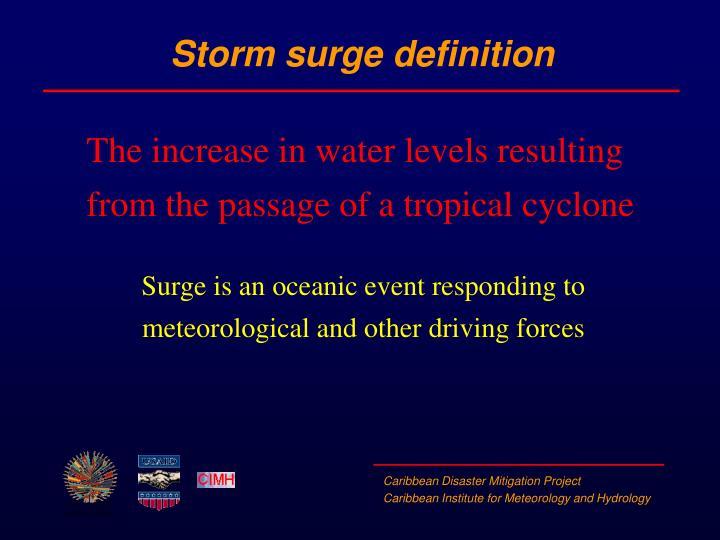 Storm surge definition