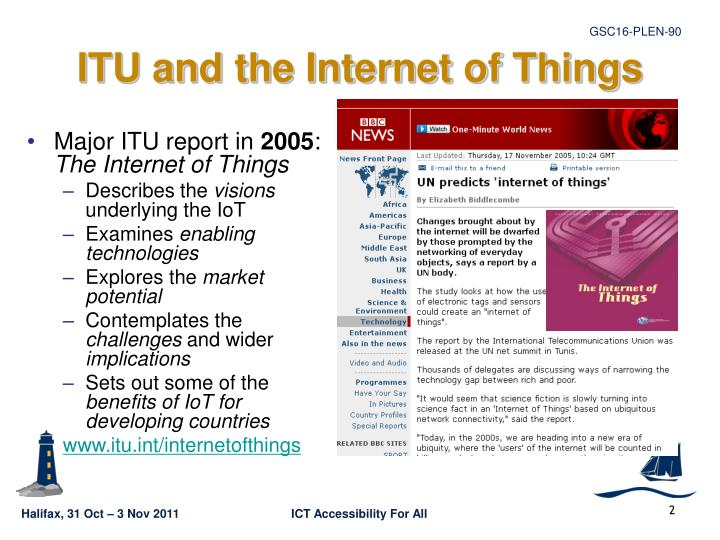 ITU and the Internet of Things