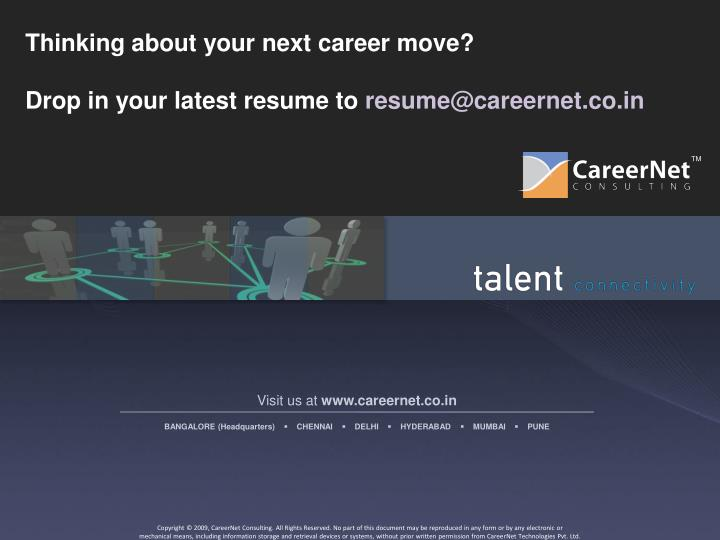 Thinking about your next career move?