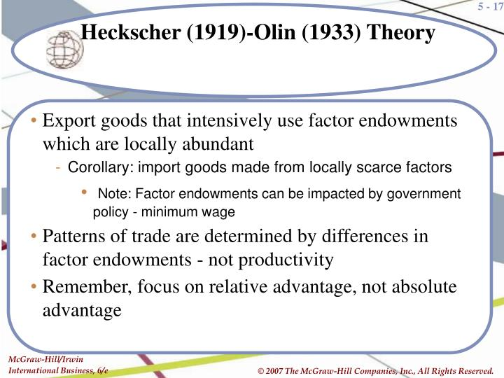 Export goods that intensively use factor endowments which are locally abundant