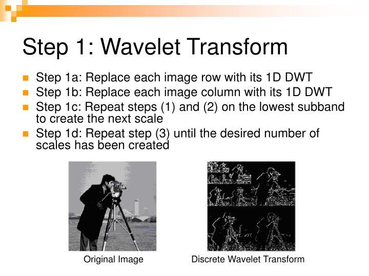 Step 1: Wavelet Transform