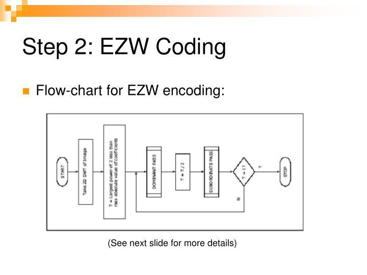 Step 2: EZW Coding