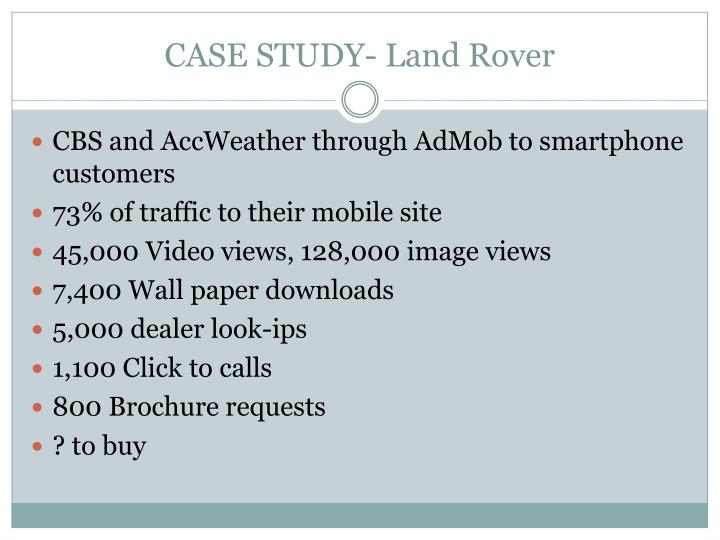 CASE STUDY- Land Rover